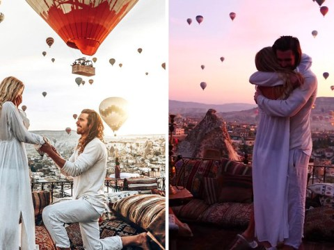 Couple have one of the most romantic proposals ever in front of hundreds of hot air balloons