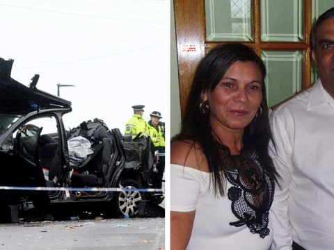 Two men being chased by police charged over crash that killed four