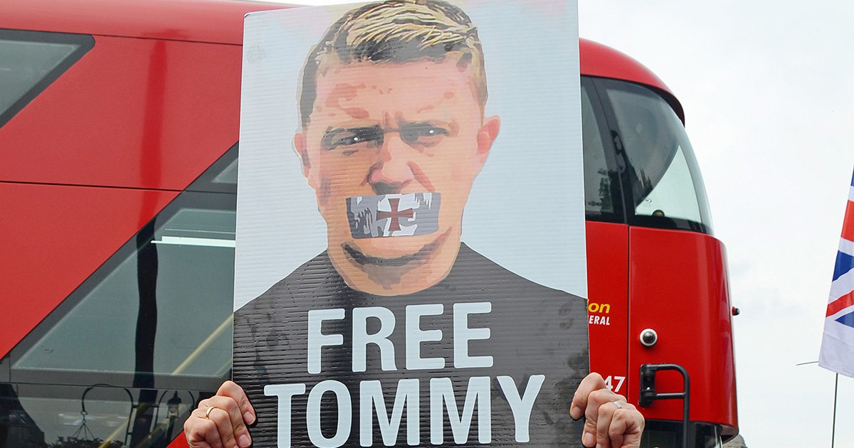 Tommy Robinson supporter spat at girl, 4, because her mother was wearing a hijab