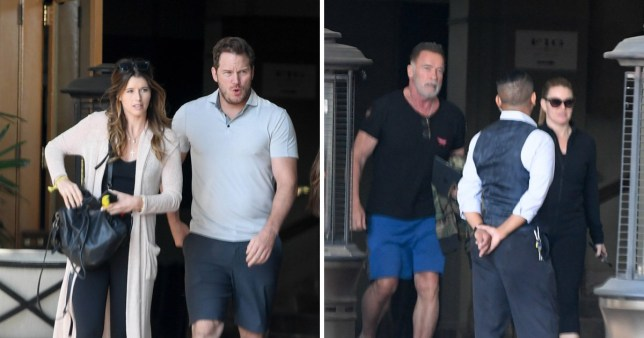 Chris Pratt on date with girlfriend Katherine and her dad