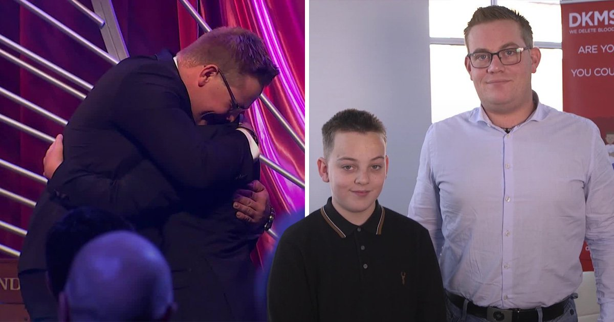 Boy, 13, who had cancer meets the donor that saved his life