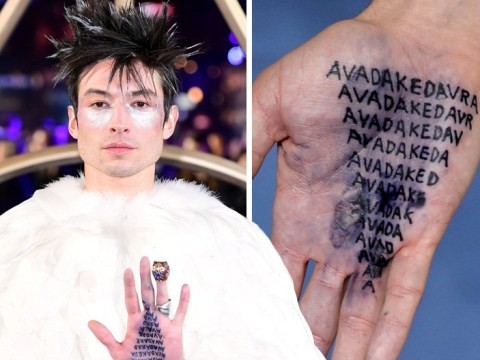 Ezra Miller inks Avada Kedavra spell on his hands for Fantastic Beasts: Crimes Of Grindelwald premiere