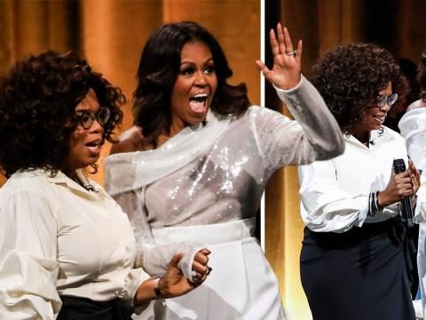 Michelle Obama tells Oprah Winfrey how she 'sobbed for 30 minutes' when she left White House