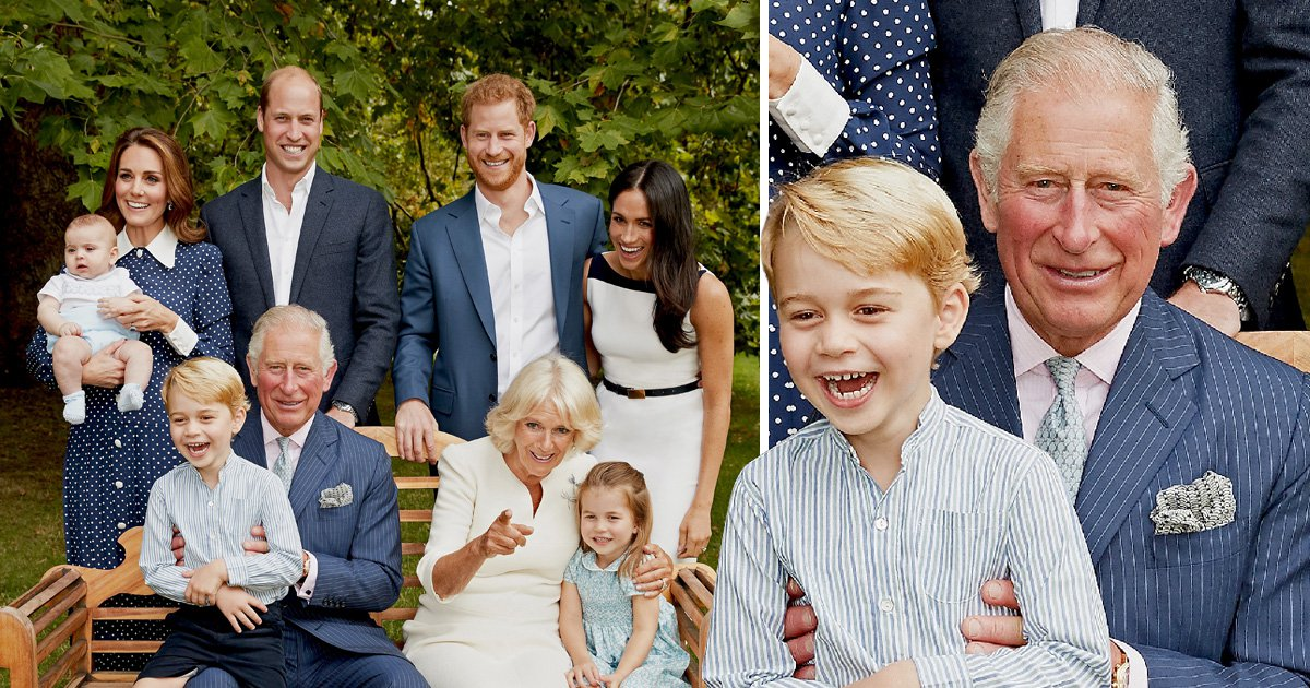 Prince George and Meghan Markle find something very funny in new royal portrait