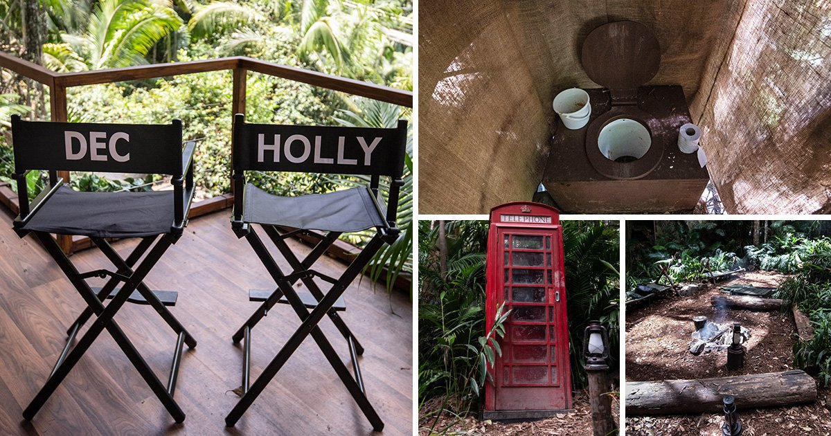 Holly Willoughby gets her seat next to Dec Donnelly in I'm A Celebrity's new look camp (which includes a really grim toilet)