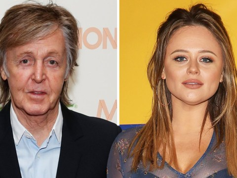 How is Emily Atack related to Paul McCartney?