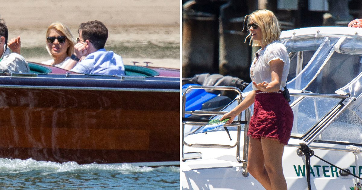 They're on a boat! Holly Willoughby and Declan Donnelly take to the water film scenes for I'm A Celebrity