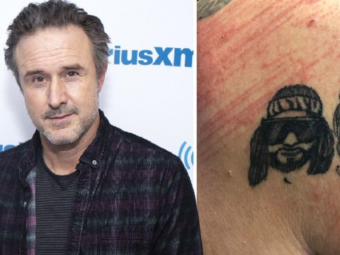 David Arquette suffers gruesome neck injury in brutal and bloody wrestling deathmatch
