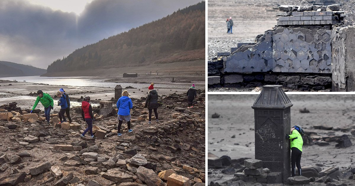 Hidden ruins of village abandoned during Second World War seen for first time in 23 years