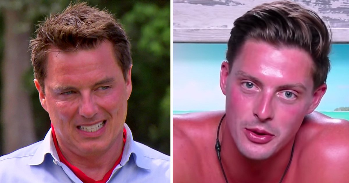 Love Island's Alex George lays it on thick as he relates to John Barrowman's sunburn on I'm A Celebrity