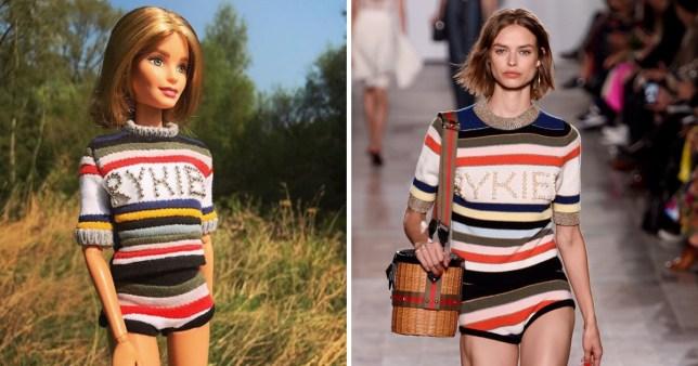 Barbie fan dresses dolls in runway replica outfits