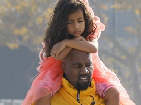 Kanye West is pure Kanye West as he gives North a piggyback on fun day out
