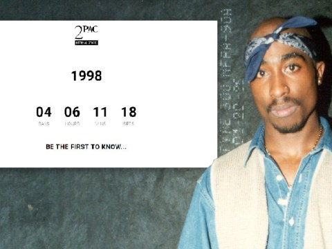 Tupac Shakur estate 'confirms' new 1998 release with very teasing countdown