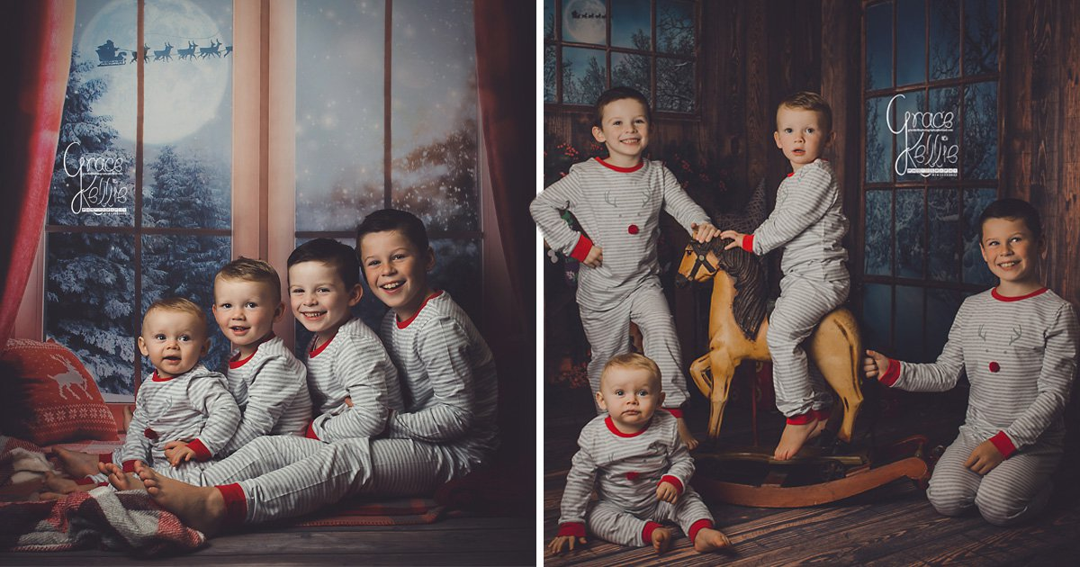 Wayne and Coleen Rooney's sons wait for Santa wearing matching pyjamas in adorable Christmas card