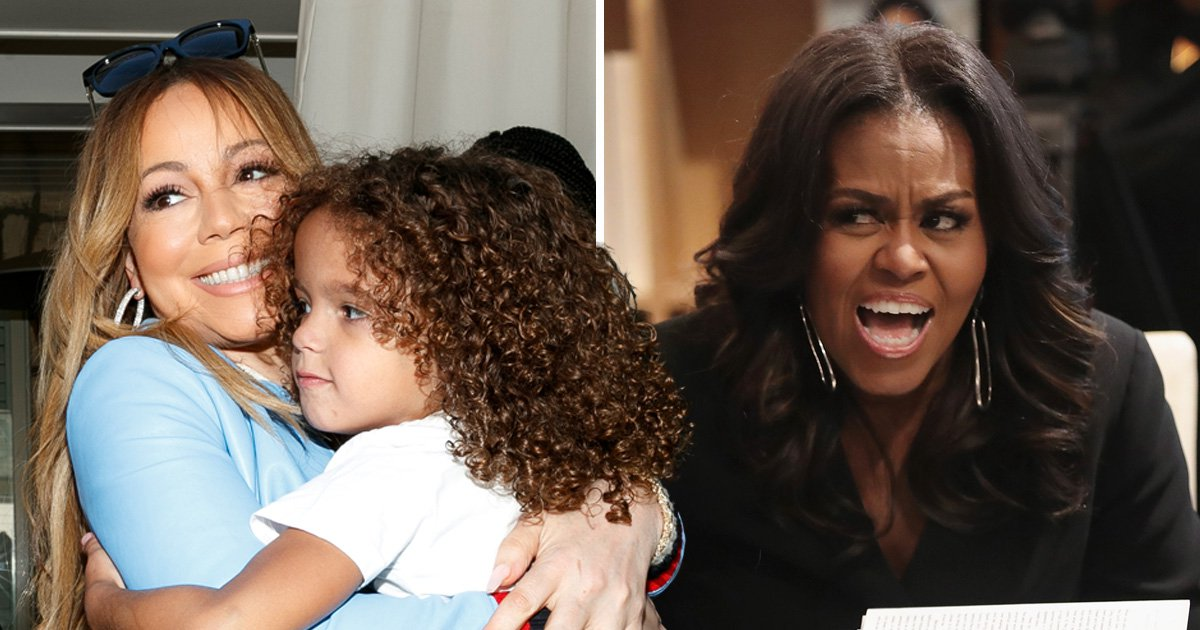 Mariah Carey's son puked on Michelle Obama's dress and she is still cringing