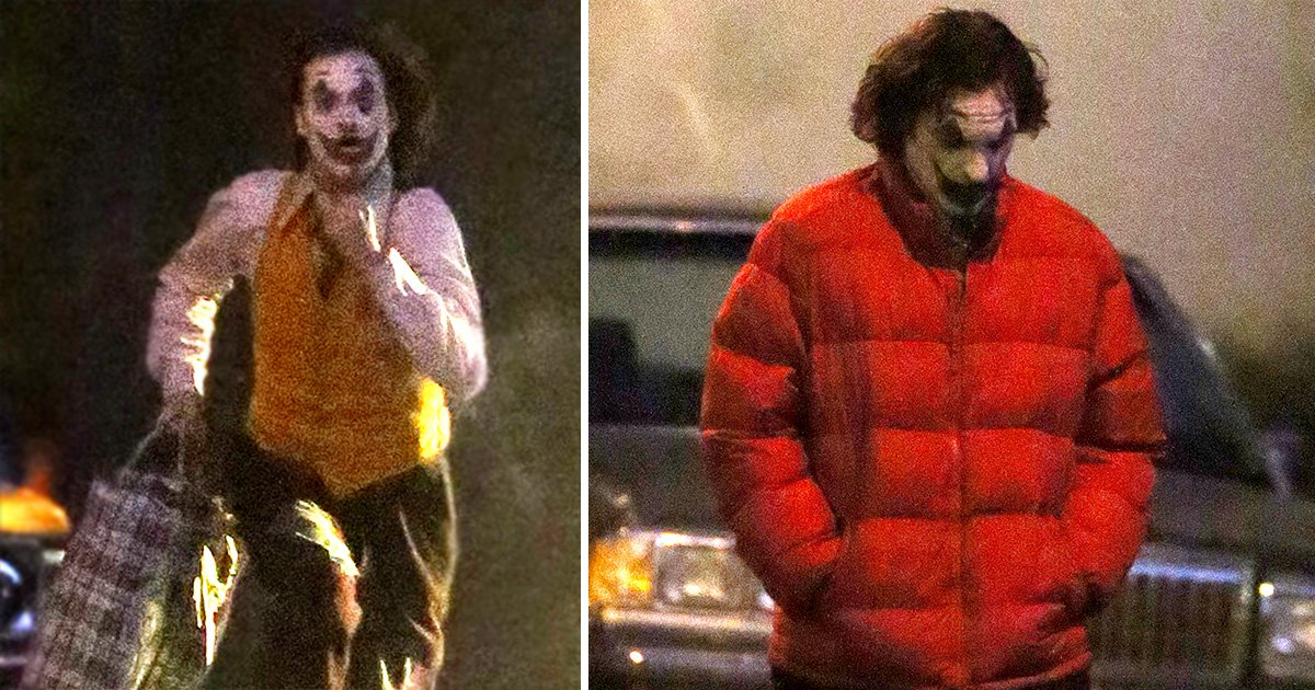 Joaquin Phoenix makes a terrifying mad dash while filming The Joker on a Dark Knight