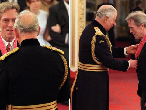 Hugh Laurie's smile during his CBE ceremony will warm your heart