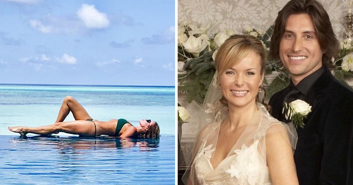 Amanda Holden is a total mood on Maldives 'second honeymoon' with husband Chris Hughes