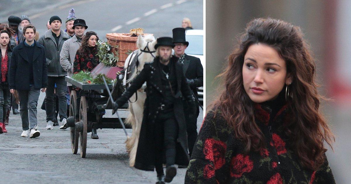 Michelle Keegan films heartbreaking funeral scenes for new show Brassic
