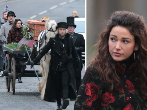 Michelle Keegan films heartbreaking funeral scenes for new show Brassic