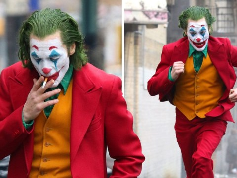 Joaquin Phoenix's Joker is on the run from the law as he sprints through New York City in full clown make-up