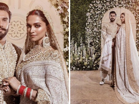 Deepika Padukone and Ranveer Singh reveal their stunning wedding reception outfits and we're in awe