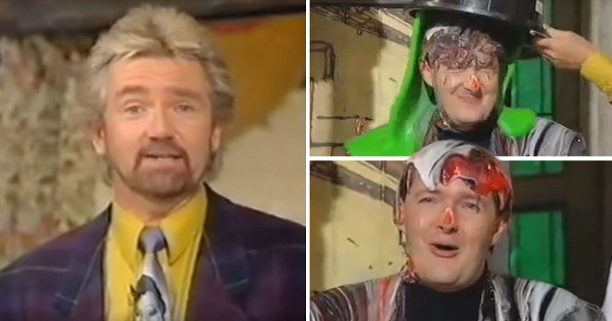 Noel Edmonds hilariously slimes Piers Morgan in unearthed House Party footage as he recalls pranking guests