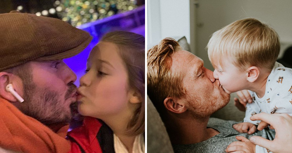 Greg Rutherford supports David Beckham by kissing son on the lips after Piers Morgan labels Becks 'weird'