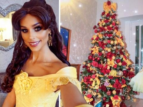 Real life Disney princess creates Beauty and the Beast-inspired Christmas tree