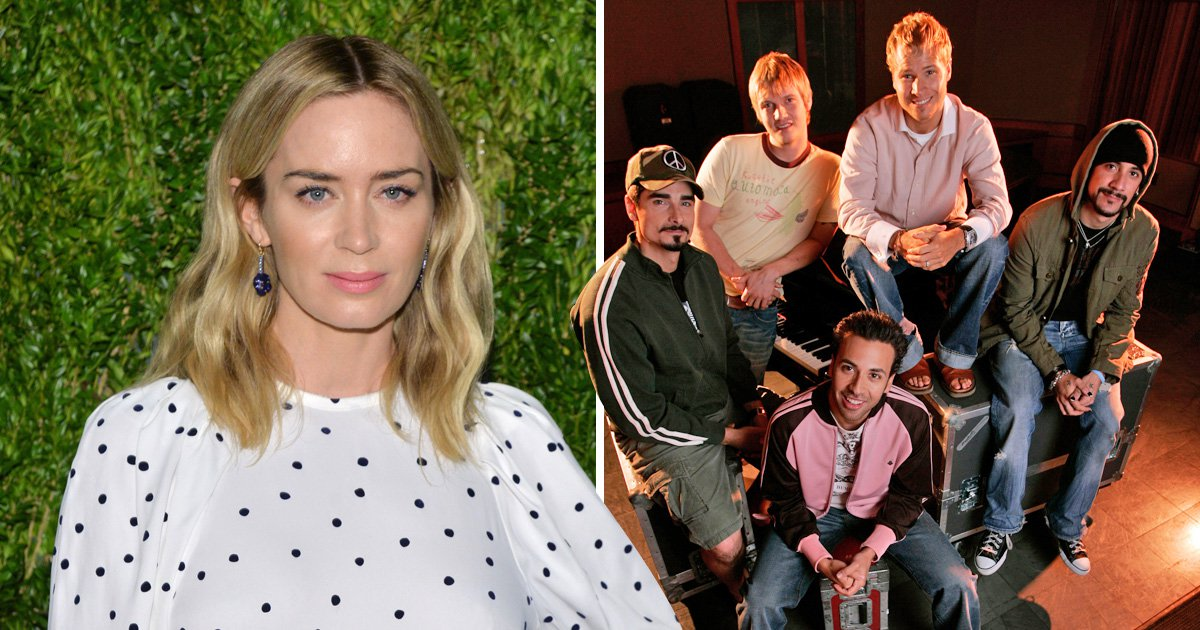 Emily Blunt describes singing with the Backstreet Boys 'one of the best days of my life'