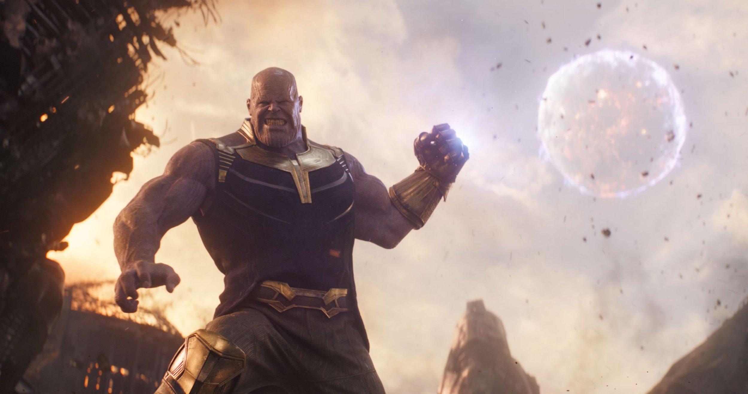 "Editorial use only. No book cover usage. Mandatory Credit: Photo by Marvel/Disney/Kobal/REX/Shutterstock (9641147bd) Thanos (Josh Brolin) ""Marvel's Avengers: Infinity War"" Film - 2018"