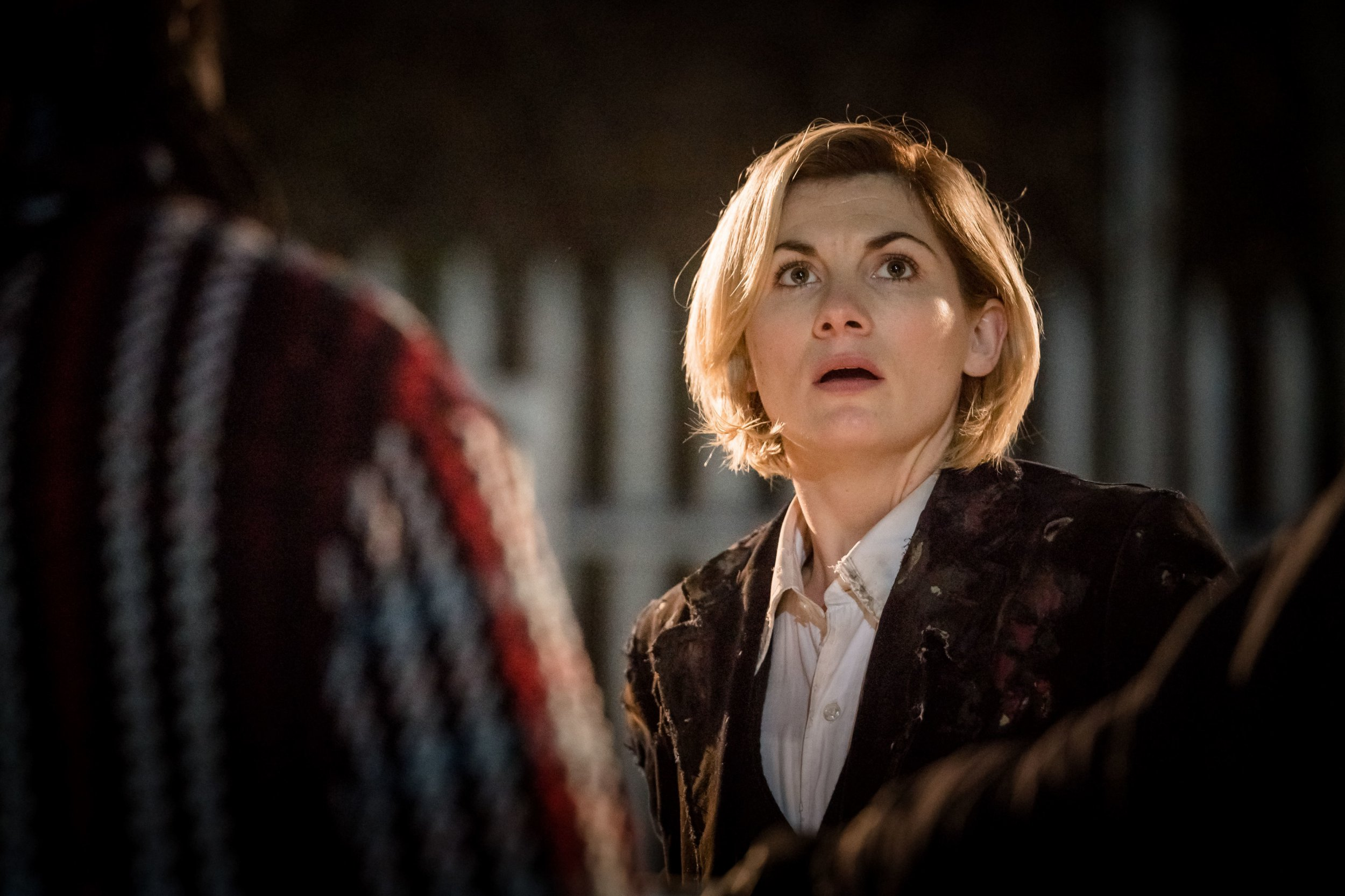 For use in UK, Ireland or Benelux countries only Undated BBC handout photo of Jodie Whittaker as The Doctor in the new series of Doctor Who. Television history will be made when Doctor Who's lead character is taken over by Whittaker, the first woman to play the role since it began 55 years ago. PRESS ASSOCIATION Photo. Issue date: Saturday October 6, 2018. The actress plays the 13th Doctor in the sci-fi series, picking up from where her predecessor Peter Capaldi left off. Doctor Who airs at 6.45pm on Sunday October 7 on BBC One. See PA story SHOWBIZ DoctorWho. Photo credit should read: Ben Blackall/BBC/PA Wire NOTE TO EDITORS: Not for use more than 21 days after issue. You may use this picture without charge only for the purpose of publicising or reporting on current BBC programming, personnel or other BBC output or activity within 21 days of issue. Any use after that time MUST be cleared through BBC Picture Publicity. Please credit the image to the BBC and any named photographer or independent programme maker, as described in the caption.