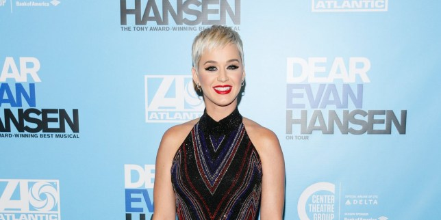 Mandatory Credit: Photo by Ryan Miller/REX (9939056an) Katy Perry 'Dear Evan Hansen' Center Theatre Group Ahmanson Theatre Opening, Los Angeles, USA - 20 Oct 2018