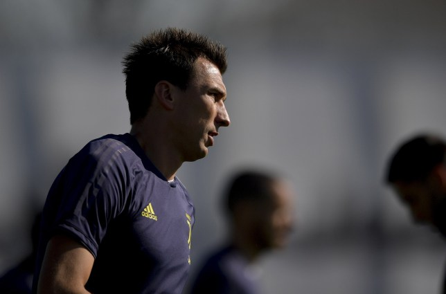 TURIN, ITALY - OCTOBER 22: Juventus player Mario Mandzukic during the Champions League training session at JTC on October 22, 2018 in Turin, Italy. (Photo by Daniele Badolato - Juventus FC/Juventus FC via Getty Images)