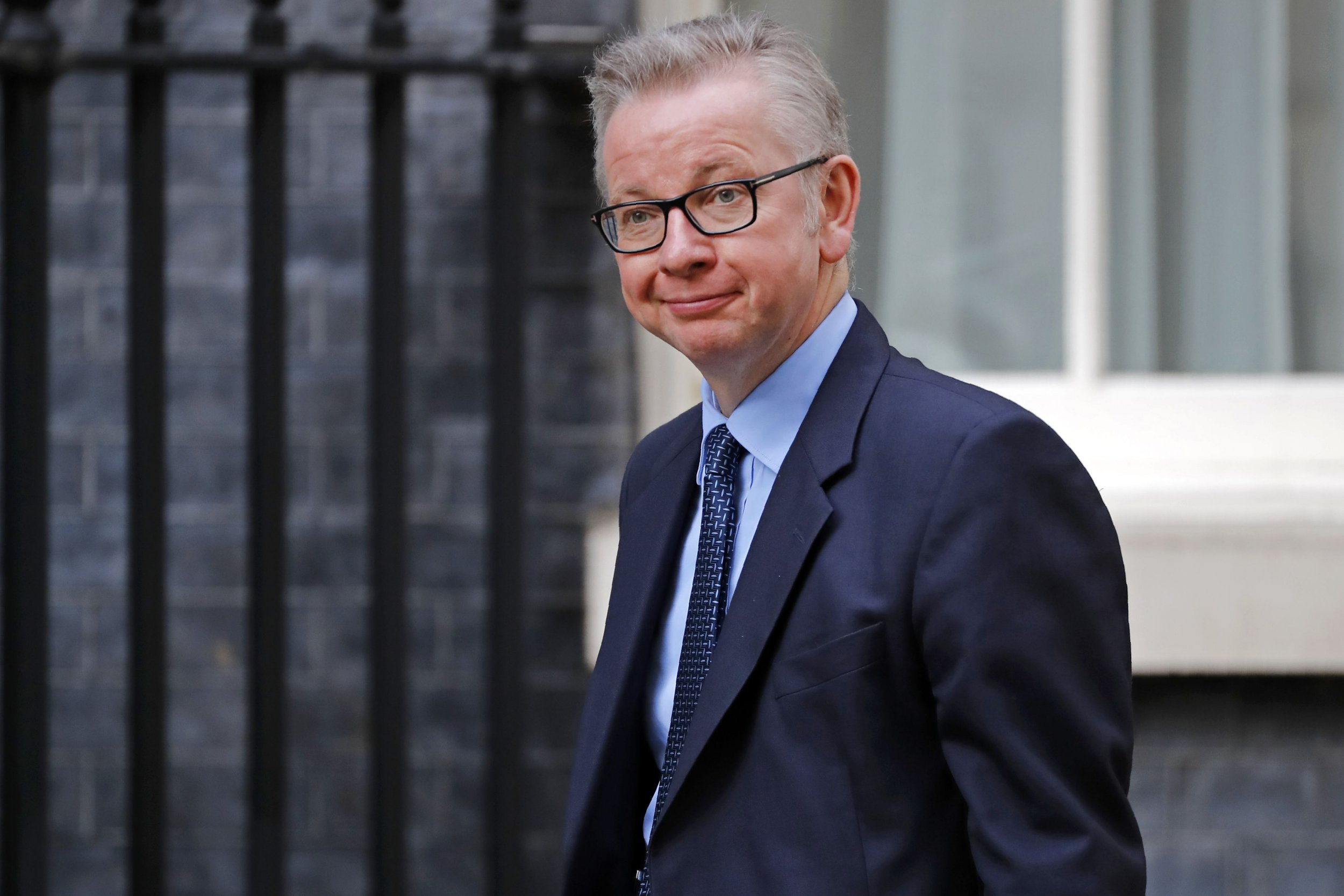 Britain's Environment, Food and Rural Affairs Secretary Michael Gove walks toward 10 Downing Street in London on October 24, 2018 to attend a meeting. - UK businesses have run out of time to prepare for the consequences of Britain leaving the European Union in March without an exit deal, a government audit showed on Wednesday. The findings by the National Audit Office, the government's spending watchdog, were published with London and Brussels at loggerheads in Brexit talks. (Photo by Tolga AKMEN / AFP)TOLGA AKMEN/AFP/Getty Images