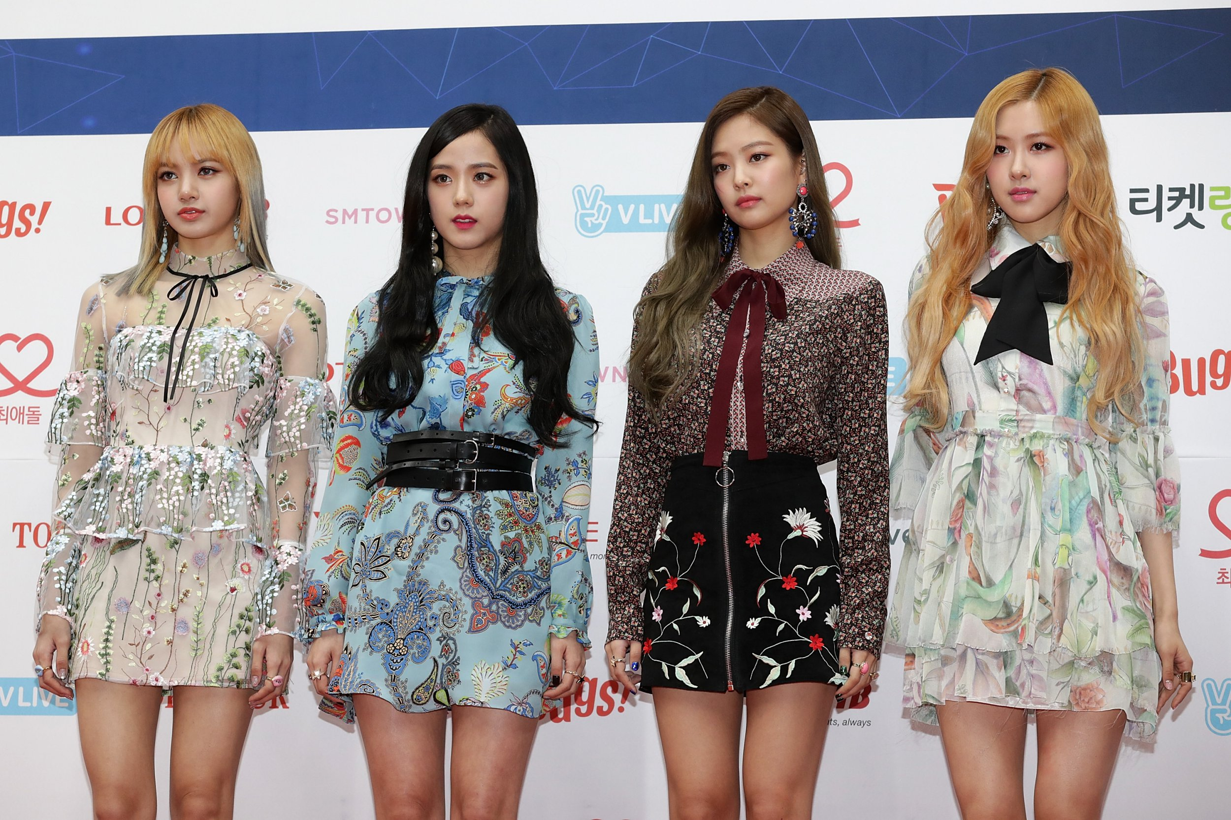 SEOUL, SOUTH KOREA - FEBRUARY 22: Girl group BLACKPINK attend the 6th Gaon Chart K-Pop Awards on February 22, 2017 in Seoul, South Korea. (Photo by Han Myung-Gu/WireImage)