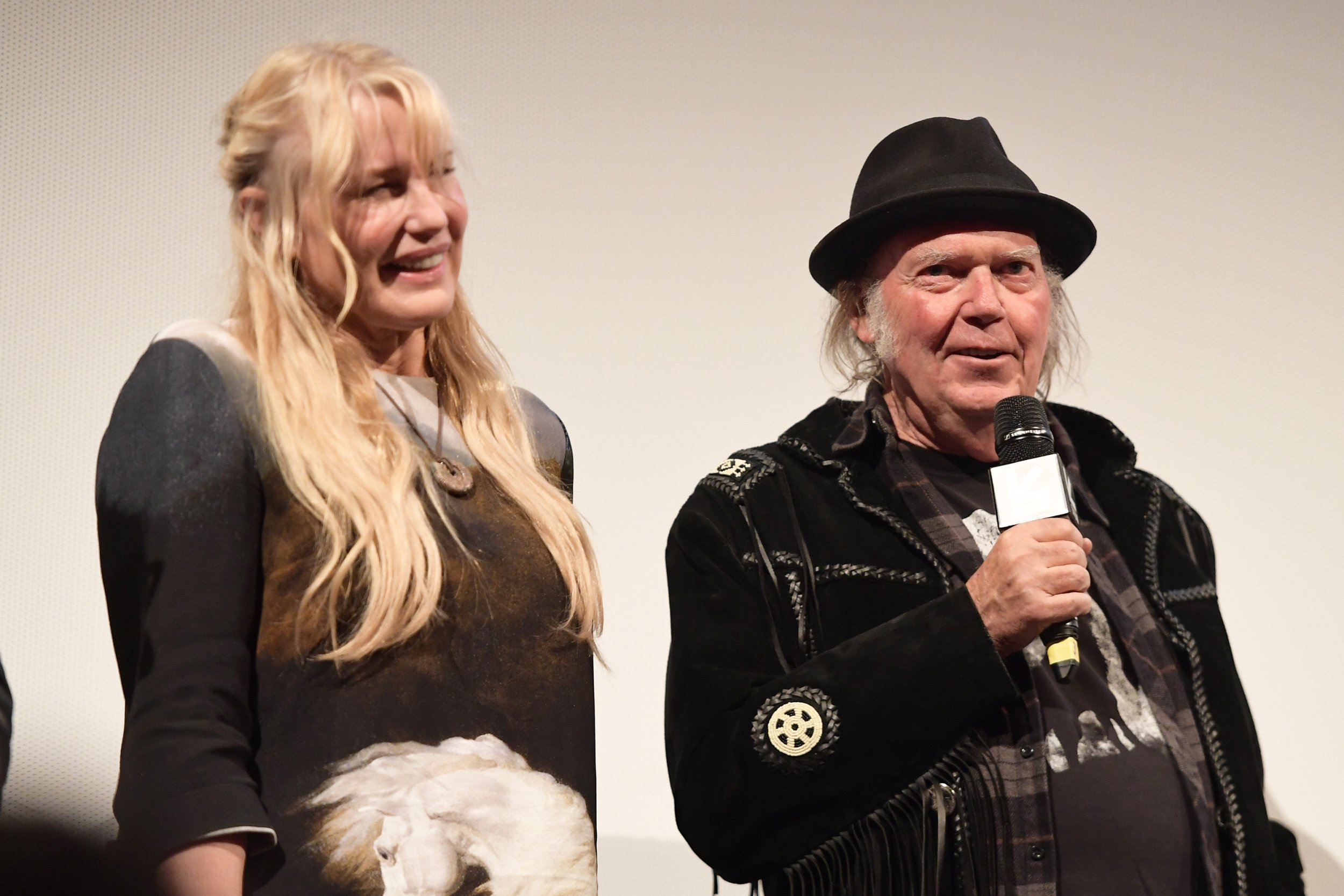 """AUSTIN, TX - MARCH 15: Daryl Hannah and Neil Young attend the """"Paradox"""" Premiere 2018 SXSW Conference and Festivals at Paramount Theatre on March 15, 2018 in Austin, Texas. (Photo by Matt Winkelmeyer/Getty Images for SXSW)"""