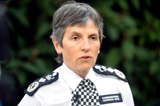 """File photo dated 23/06/17 of Metropolitan Police Commissioner Cressida Dick, who has backed a drive to focus on violent offenders rather than recording incidents of misogyny that are not crimes. PRESS ASSOCIATION Photo. Issue date: Friday November 2, 2018. Ms Dick said """"stretched"""" forces must prioritise violent crimes, including drug gangs fighting turf wars on the streets of towns and cities across the country. See PA story POLITICS Police. Photo credit should read: Victoria Jones/PA Wire"""