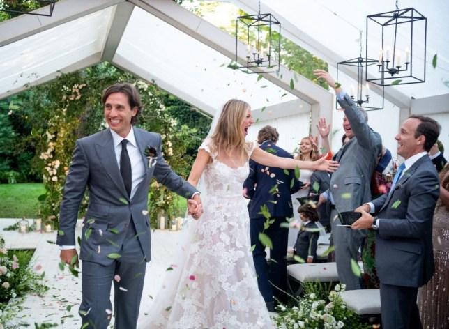Gwyneth Paltrow and Brad Falchuk wedding. 29 September 2018. (Picture: John Dolan)