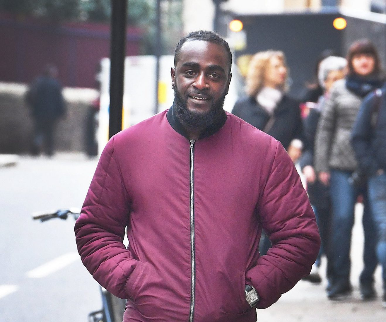 Festus Onasanya, the 33-year-old brother of Labour MP Fiona Onasanya, arrives at the Old Bailey for a plea hearing over allegations of a motoring offence. PRESS ASSOCIATION Photo. Picture date: Monday November 5, 2018. Mr Onasanya, the 33-year-old brother of Labour MP Fiona Onasanya, are both alleged to have misinformed Cambridge police about who was responsible for driving a speeding vehicle on July 24 2017. See PA story COURTS Onasanya. Photo credit should read: John Stillwell/PA Wire