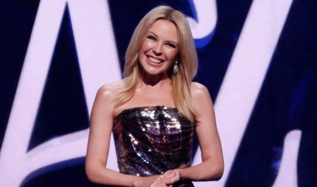 STRICT EMBARGO - NO USE BEFORE 00:01 TUESDAY 6TH NOVEMBER 2018 - Editorial Use Only Mandatory Credit: Photo by ITV/REX/Shutterstock (9959025ah) Kylie Minogue. 'We Are Most Amused And Amazed' TV Show, UK - 13 Nov 2018 We Are Most Amused And Amazed, is a special British ITV programme celebrating The Prince of Wales' 70th Birthday. With a stellar line-up, including Rowan Atkinson, Bill Bailey and Omid Djalili with magicians Penn & Teller and Dynamo. The show also reunites comedians Armstrong and Miller as hosts of the two hour event.