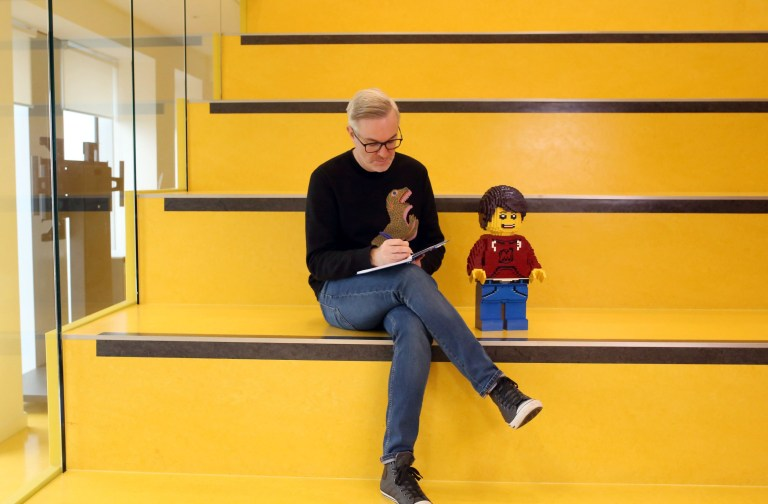 LONDON, UNITED KINGDOM, NOVEMBER 5TH 2018. ODD JOBS: Matthew Ashton, Design Vice President of toy brand Lego, pictured looking for inspiration among the latest Lego models at the Lego offices in London, United Kingdom, 5th November 2018. Photo credit: Susannah Ireland