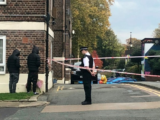 Police cordon at the scene in Tulse Hill, south London, where 16-year-old John Bessingham was stabbed to death last night (Mon). November 6 2018.See National News story NNknifeA ?popular? teenager was slain outside a youth club in another episode of brutal knife violence in London.The 16-year-old, named locally as John Bessingham, or Bettinge, was murdered last night (MON).He is the fifth person in London to be stabbed to death in just six days - slain inside of a busy housing estate.Police rushed to the scene in Tulse Hill, south London, after reports of gunfire - only to discover the young lad covered in stab wounds