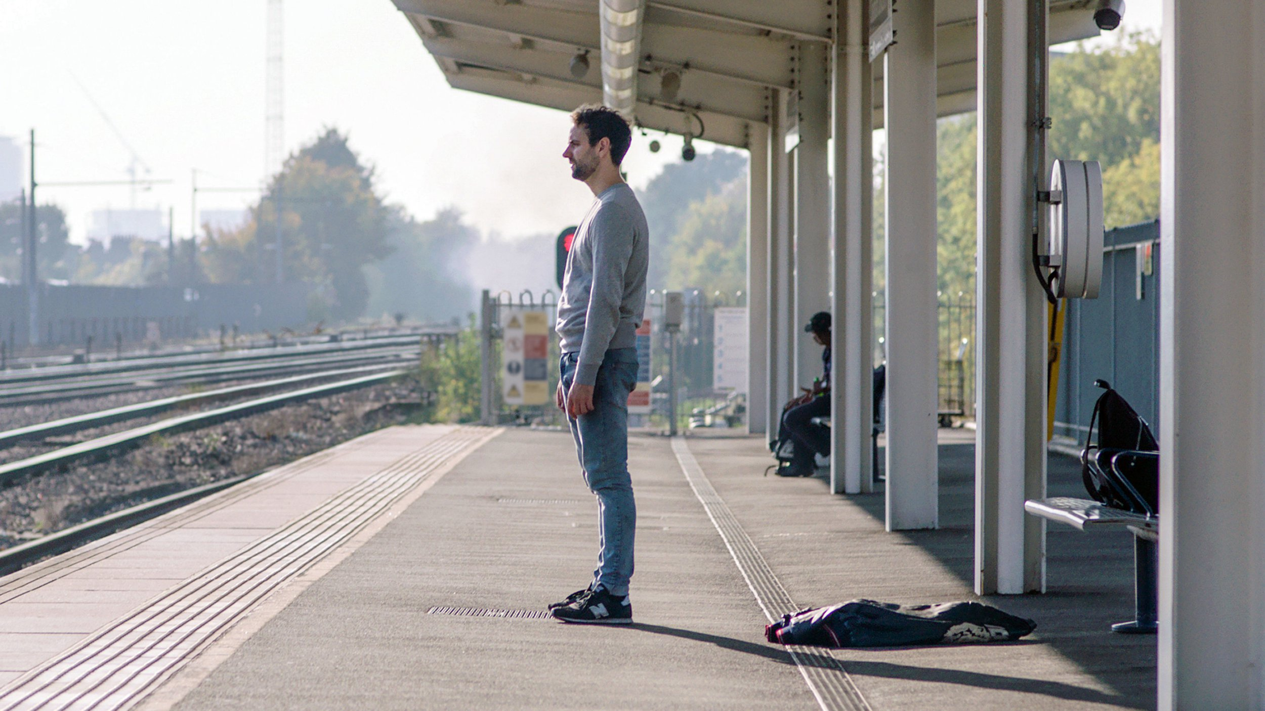 Handout image issued by Network Rail from its campaign video Small Talk Saves Lives, showing a man standing on a railway platform. According to British Transport Police data published by Network Rail there has been a 20% increase in the number of times passengers have acted to prevent suicide on Britain's railways. PRESS ASSOCIATION Photo. Issue date: Wednesday November 7, 2018. The new figures show that some 163 interventions were made by members of the public between January and September compared with 136 during the same period in 2017. See PA story RAIL Suicide. Photo credit should read: Network Rail/PA Wire NOTE TO EDITORS: This handout photo may only be used in for editorial reporting purposes for the contemporaneous illustration of events, things or the people in the image or facts mentioned in the caption. Reuse of the picture may require further permission from the copyright holder.