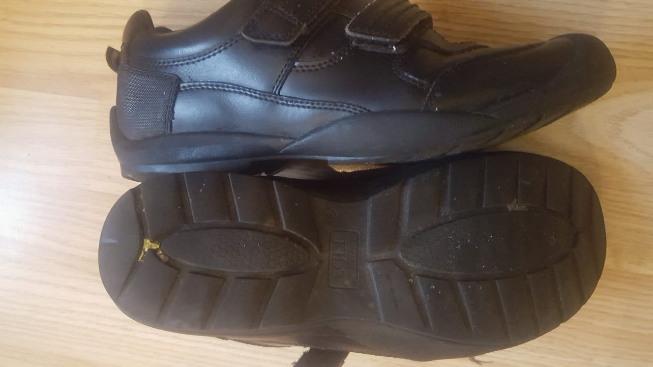 """These are the shoes which saw a 14-year-old spend four hours out of class in a uniform crackdown branded """"totally wrong"""". Teachers at Walbottle Campus, on the outskirts of Newcastle, have launched a tougher uniform inspection regime after the half term holiday - but it hasn't gone down well with some parents. Mum Carol Close says her son was banned from his year 10 class over a pair of black shoes, which one teacher deemed not up to code. Carol said: """"There's nothing wrong with his behaviour - it was just the shoes that were the issue. Shoes mum Carol Close says saw her son sent out of class"""