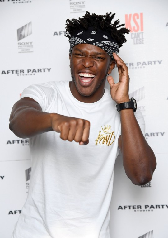 LONDON, ENGLAND - AUGUST 08: KSI attends the World Premiere of 'KSI: Can't Lose' documentary at Picturehouse Central on August 8, 2018 in London, England. (Photo by Karwai Tang/WireImage)