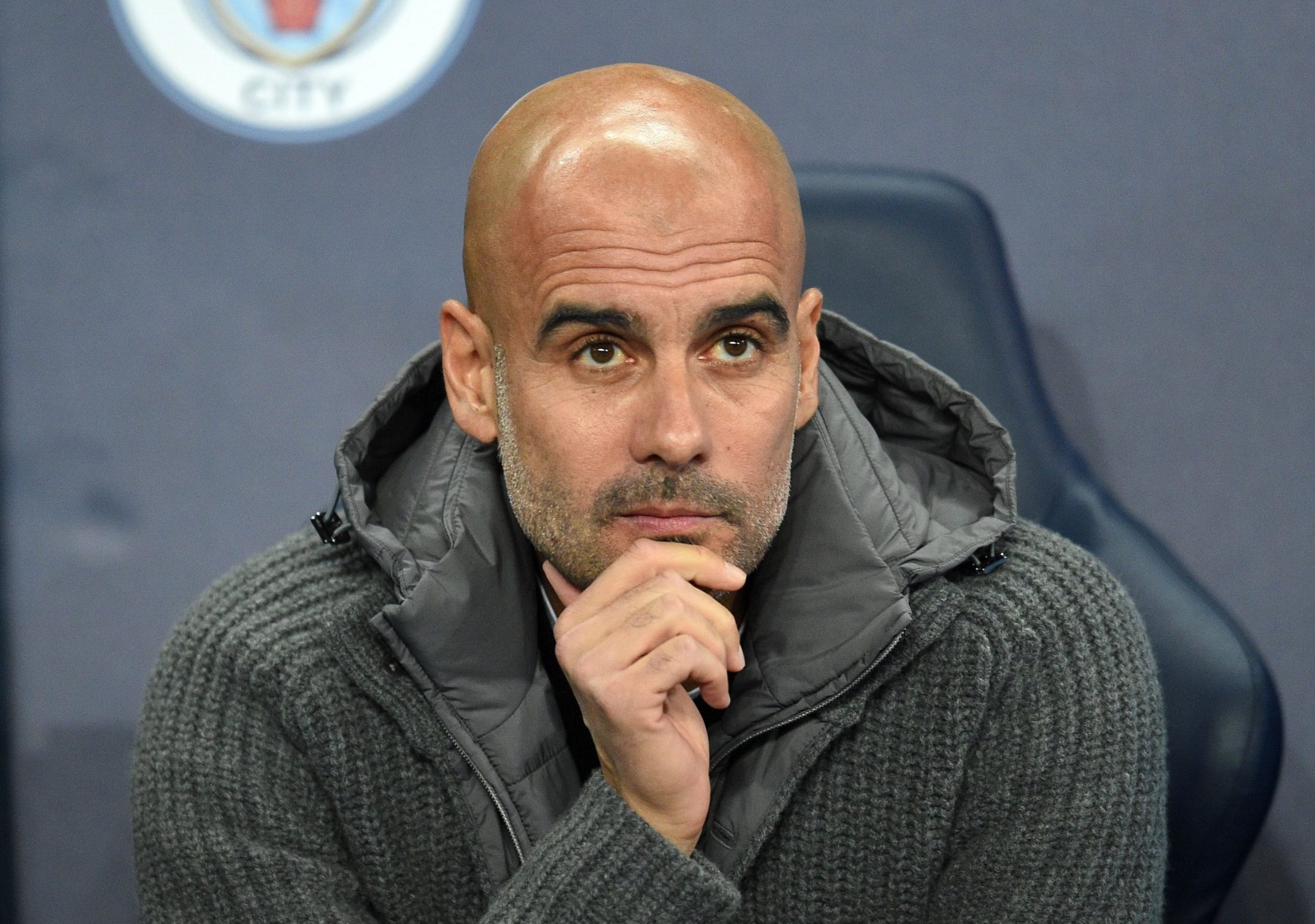 Mandatory Credit: Photo by Ryan Browne/BPI/REX (9970142bq) Pep Guardiola manager of Manchester City. Manchester City v Shakhtar Donetsk, UEFA Champions League Group F, Football, Etihad Stadium, Manchester, UK - 07 Nov 2018