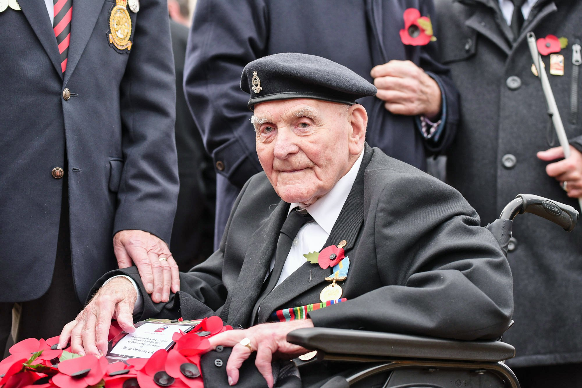 Undated handout photo issued by Blind Veterans UK of Ron Freer, who will be the oldest veteran to attend the cenotaph on Sunday for the remembrance service. PRESS ASSOCIATION Photo. Issue date: Thursday November 8, 2018. The blind veteran from Cliftonville, Kent, is set to march at the Cenotaph in London this Remembrance Sunday with the charity Blind Veterans UK. See PA story MEMORIAL Armistice. Photo credit should read: Blind Veterans UK/PA Wire NOTE TO EDITORS: This handout photo may only be used in for editorial reporting purposes for the contemporaneous illustration of events, things or the people in the image or facts mentioned in the caption. Reuse of the picture may require further permission from the copyright holder.