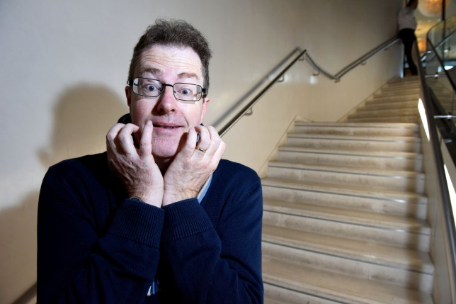 Pic by Pete Goddard/Caters News (Pictured: Richard Smith, 52 who suffered from bathmophobia, the specific fear of stairs.) - A man with a 40-year-old phobia of STAIRS said his fear was so intense he missed holidays, skipped school classes and even prolonged losing his virginity. Richard Smith, 52, first became terrified of heights as a child but was not diagnosed with bathmophobia, the specific fear of stairs, until he was in his forties. The writer, from Lincolnshire, eventually came to terms with his condition after flying in a hot air balloon but said he was ashamed of the fear, which nearly ruined his life, for decades. Now able to live a normal life, married Richard spent years avoiding any events where he knew he would have to scale heights and even hid the condition from his wife. Richard, who now lives in Oxford, said: My phobia of stairs dictated my day-to-day for quite a large portion of my life. It was very restrictive. SEE CATERS COPY.