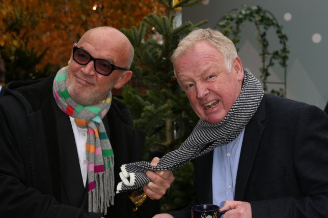 Corrie Legends Connor McIntyre And Les Dennis Officially Open Manchester's World-Famous Christmas Market. Pictured: Ref: SPL5040601 091118 NON-EXCLUSIVE Picture by: SplashNews.com Splash News and Pictures Los Angeles: 310-821-2666 New York: 212-619-2666 London: 0207 644 7656 Milan: 02 4399 8577 photodesk@splashnews.com World Rights,